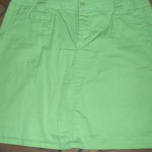 Womens White Stag Green Skort size 10